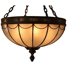 american leaded glass inverted dome chandelier for
