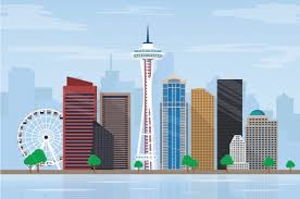 Seattle Cityscape Seattle Skyline Vectors Photos And Psd Files Free Download