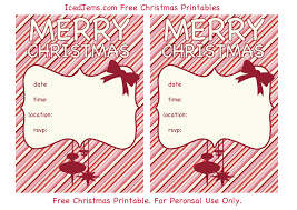 free printable christmas invitations templates christmas template free free printable certificate of recognition
