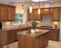 Kitchen Setting Setting A Kitchen Remodeling Budget