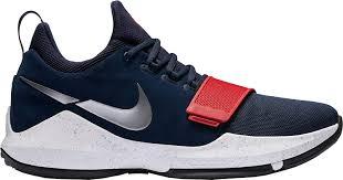 Nike Pg 1 Wolf Grey Cool Grey Light Brown Gum Nike Mens Pg 1 Basketball Shoes Navy Red White 9 0 Medium