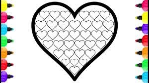 heart color pages. Delighful Color Heart Coloring Pages How To Draw Fill Full Mini  Rainbow Colors Glitter For Kids Inside Color N