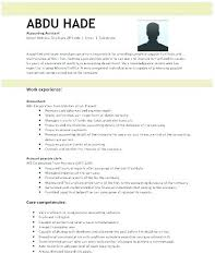 Resume Template Accountant Accountant Resume Format Cv Template