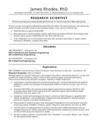 Industrial Resume Templates Research Scientist Resume Sample Monster 10