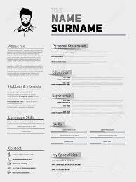 Resume Minimalist Cv Resume Template With Simple Design Company
