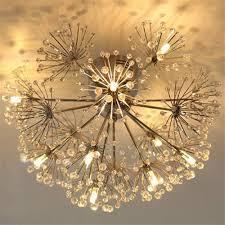 Contemporary Led Light Fixtures Injuicy Lighting Modern European K9 Crystal Dandelion