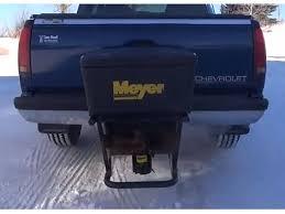 meyer blaster salt spreader hitch mounted 350 750 meyer base line salt spreader