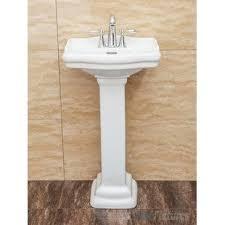 Marble pedestal sink Sink Vanity Save Euglenabiz Marble Pedestal Sink Wayfair