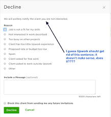 declined invitations upwork community