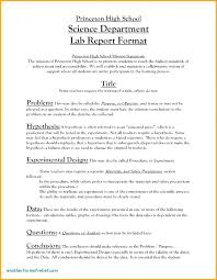 Science Report Format High School Lab Report Template Physics Conclusion Sample Of
