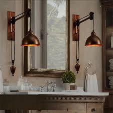 industrial lighting bathroom. Rustic Industrial Lighting Bathroom Wall Lamps Vintage Coffee Shop Retro Light Sconces Bar