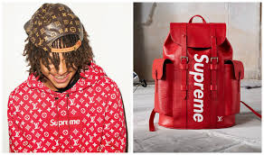 louis vuitton x supreme backpack. photo credit: supreme and louis vuitton (via facebook) x backpack i