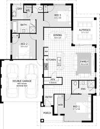 Modern 4 Bedroom House Plans Bedroom House Plans Home Floor Plan 988 Sqft 3 Bedroom 1 Bathroom