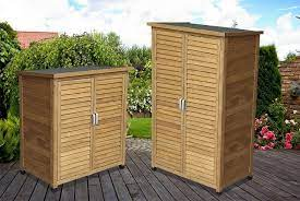 wooden storage shed small or tall