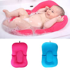baby bath tub pillow pad lounger air cushion floating soft seat infant newborn non slipt