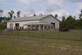 Perfect Combo  Metal Building Home  amp  Metal Barn Building      Front view of the metal structure  Notice three big doorways  these are access to