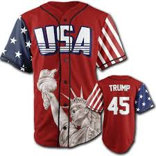 Baseball Jersey Trump Red 45