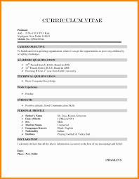 Free Resume For Freshers Curriculum Vitae Resume Samples For Freshers Therpgmovie 62
