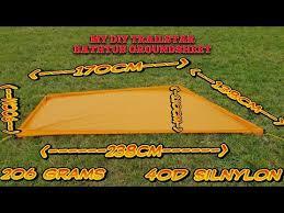 my diy trailstar bathtub groundsheet project