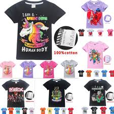 How To Design Clothes In Roblox 2019 Unicorn Kids Girl Teenager Clothes T Shirt Kids Roblox Design Short Sleeve Boy Shirt 100 Cotton Summer T Shirt Size 6 14t From Ivytrade1125