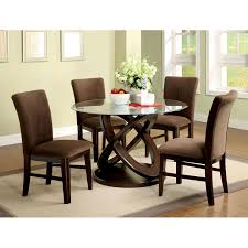 Dining Room Furniture  Modern Round Glass Dining Table Applying - Glass dining room furniture sets