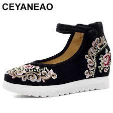 CEYANEAOHandmade Women Vintage Wedges <b>Old Peking</b> Shoes ...