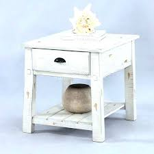 white end table distressed tables round willow progressive furniture