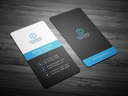 15 Vertical Business Card Templates Psd Ai Word Free