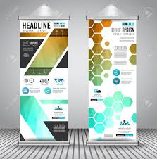 Advertisement Brochure Advertisement Roll Up Business Flyer Or Brochure Banner With 4