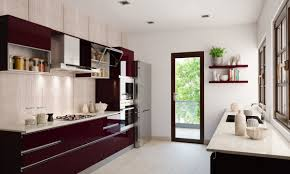 Modular Kitchens sienna parallel modular kitchen with whtie and dark brown colours 3485 by guidejewelry.us