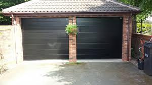 twin garage doors after