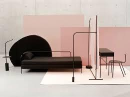 minimalist furniture design. The Minimalist Pieces Of Black Furniture Are Designed To Be Configured Into \u201cislands\u201d Allowing Placed In Center Room, Design