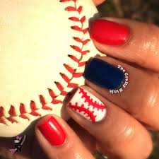 Baseball Nail Art Tutorial...doing this for my first Cubs game ...