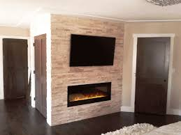 New Home Construction We Designed And Installed The Fireplace Best Fake Stone Fireplace