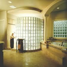 design walk shower designs: interior bathroom decorating design idea using glass block bathroom wall panel including corner bathroom middot interior bathroom walk in shower designs