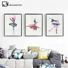 Girl Music Hip Hop Street <b>Dance Minimalist</b> Art Canvas Poster ...