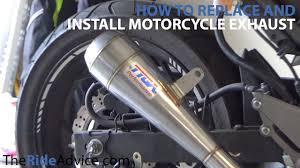 How To Install <b>Motorcycle Exhaust</b> - Remove Old <b>Motorcycle</b> ...