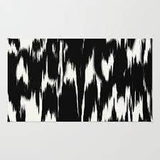 ikat black ivory area throw rug by eileen paulino