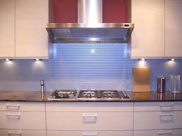 Impressive Kitchen Blue Glass Backsplash Beautiful Tile With Canopy Intended Decor