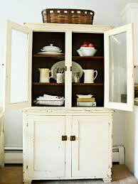 vintage kitchen furniture. Vintage Kitchen Hutch With Natural Wood Shelves Furniture E
