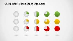 Harvey Balls Chart Template Harvey Ball Shapes For Powerpoint Data Charts Charts