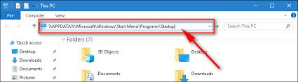 Windows 10 Startup Folder Location Add A Program To Startup In