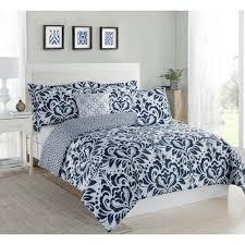 studio  anson damask navy piece twin xl comforter set