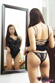 TS Vitress Tamayo in black lingerie at Shemales Fucked