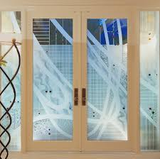 beautiful home interior decoration using etched glass door design amazing ideas for living room and