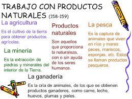 Resultado de imagen de productos naturales y elaborados primaria