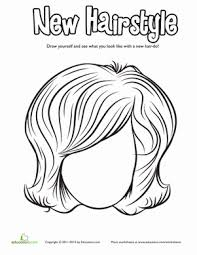 hair coloring pages education