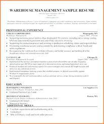Sample Warehouse Management Resume Warehouse Manager Resume Warehouse Manager Resume Templates