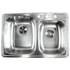 33 inch sink inch stainless steel top mount drop in double bowl kitchen sink gauge 33