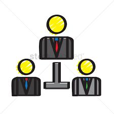Illustration Of An Organizational Chart Vector Image
